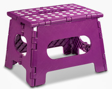 """Folding Step Stool - 11"""" Wide - Assorted Colors"""