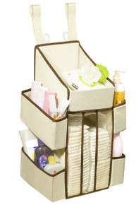 Baby Diaper Organizer Caddy - 5 Pockets - 44 Diaper Capacity