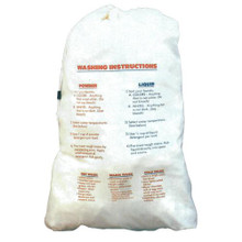 Cotton Laundry Bag with Washing Instructions