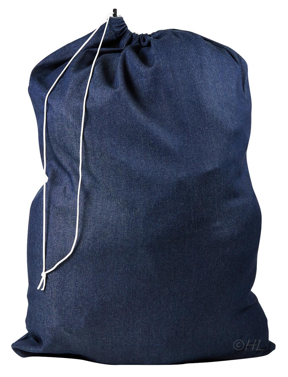 Denim laundry bag drawstring closure 30 x 40 - X laundry bags ...