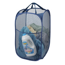 Mesh Pop Up Hamper Blue