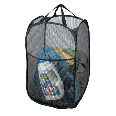 Mesh Pop Up Hamper Black