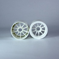 F1 Foam Front  Wheels (pr.) White