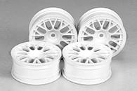 RC 24mm Mesh Wheels-4pcs - White/+2