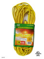 Extension cord  color: yellow  length: 100 feet  waist packing  (E/100/16-3)