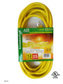 Extension cord  color: yellow  length: 25 feet  waist packing  (E/25/12-3)