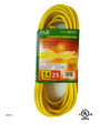 Extension cord  color: yellow  length: 25 feet  waist packing  (E/25/14-3)