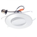 "6"" LED Recessed Retrofit Kit Adjustable Gimbal Dimmable 3000K"