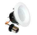 "4"" LED Recessed Baffled Retrofit Kit Reflector 3000K 2-Pack"