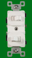(SSW) Stack Switch Double Toggle 15A White