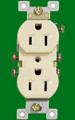 (RA) Standard Duplex Receptacle 15Amp Almond