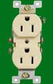 (RI) Standard Duplex Receptacle 15Amp Ivory