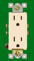 (RDA) Decorative Duplex Receptacle 15Amp Almond