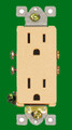 (RDI) Decorative Duplex Receptacle 15Amp Ivory