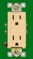 (RDI) Decorative Duplex Receptacle 15Amp Ivory