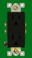 (RDBRN) Decorative Duplex Receptacle 15Amp Brown
