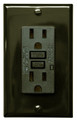 (GFCI/15/LED/BRN/2008) GFCI 15Amp UL2008 w/ LED Brown