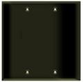 (W2BBRN) Blank Wall Plate 2-Gang Brown