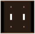 (WS2BRN) Toggle Switch Wall Plate 2-Gang Brown