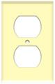 (WRI) Duplex Receptacle Wall Plate 1-Gang Ivory