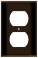 (WRBRN) Duplex Receptacle Wall Plate 1-Gang Brown