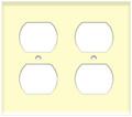 (WR2A) Duplex Receptacle Wall Plate 2-Gang Almond