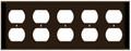 (WR5BRN) Duplex Receptacle Wall Plate 5-Gang Brown