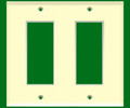 (WD2A) Decorative Wall Plate 2-Gang Almond