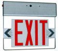 (RELD/RED) Edge Lit Exit Light Red