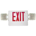 (CR) Combination Emergency & Exit Light Red