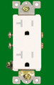 (RCDW/TR) Decorative Receptacle 20Amp White Tamper Resistant