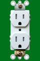 (RW/TR) Receptacle 15Amp White Tamper Resistant