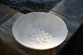 Marble Flower Plate