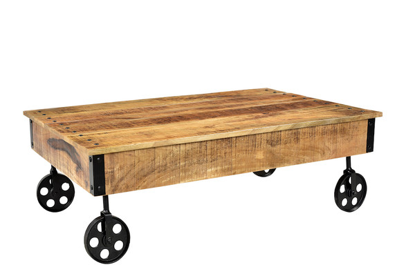 industrial cart wheels coffee table timbergirl. Black Bedroom Furniture Sets. Home Design Ideas
