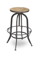 Industrial Round Bar Stool