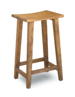 Solid Acacia Wood Counter Stool - Tall