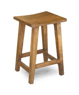 Solid Acacia Wood Counter Stool - Medium