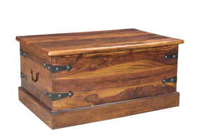 Solid Seesham Wood Trunk Coffee Table