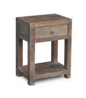 Reclaimed Wood SideTable With Drawer