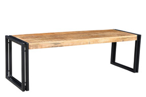 Reclaimed Mango wood Bench with Metal legs.