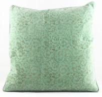 Velvet Cushion Cover - Light Green