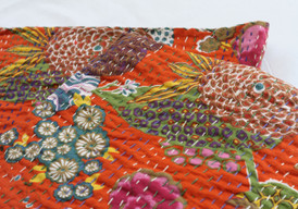 Kantha Throw - Orange