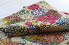 Kantha Throw - Beige