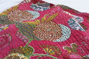 Kantha Throw - Pink