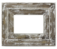 White Distressed Moudled Photo Frame