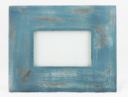 Sea Blue Distressed Photo Frame