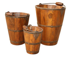 Set of 3 Rustic Buckets