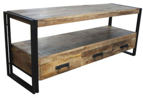 Industrial Reclaimed wood 3 Drawer T.V console