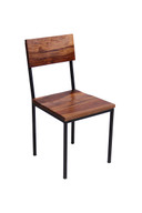 Timbergirl Solid Seesham Wood and Metal chair - Set of 2