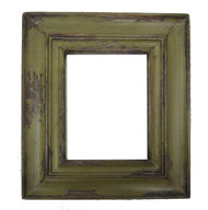 Carved Reclaimed Wood Picture Frame - Olive